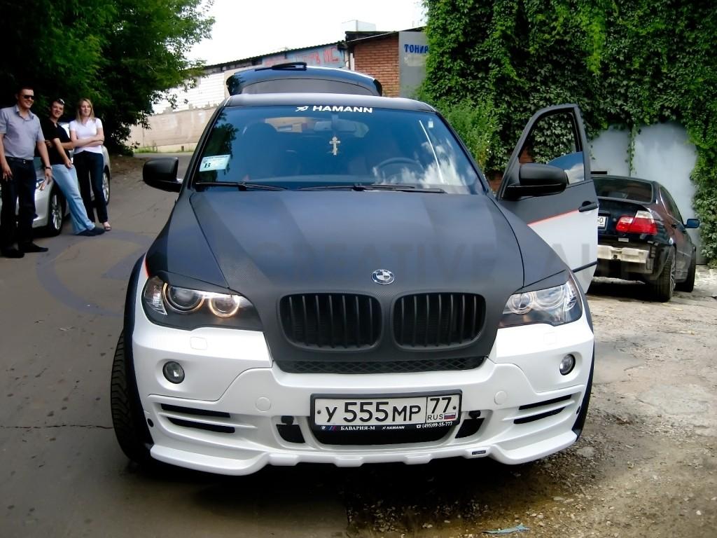 3D черный и серебряный карбон BMW X5