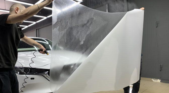 Антигравийная защита передних частей кузова и салона Мазда CX5