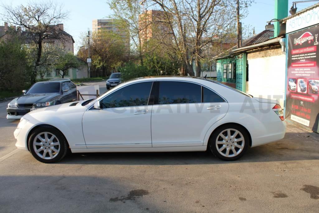 Белый глянец Hexis Mercedes S221. Изображение 7