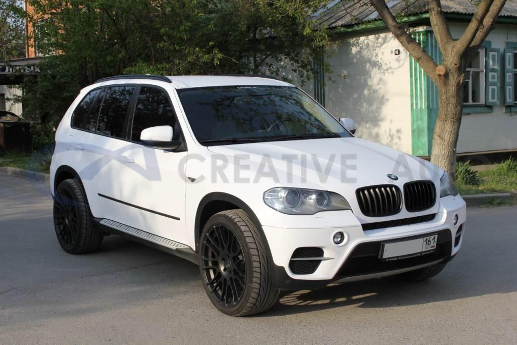 Белый мат BMW X5. Изображение 10