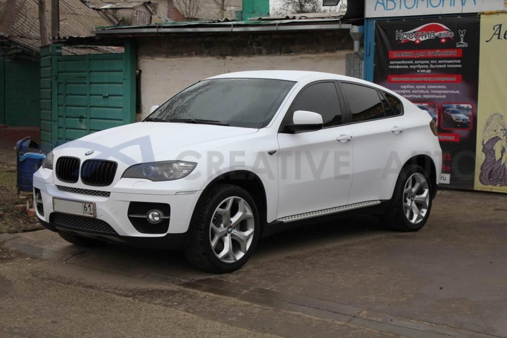 Белый мат BMW X6. Изображение 13
