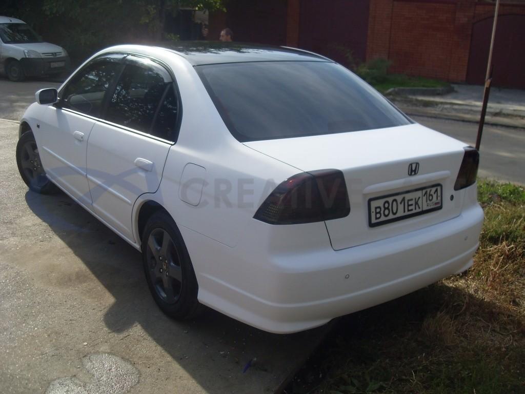 Белый мат Honda Civic. Изображение 10