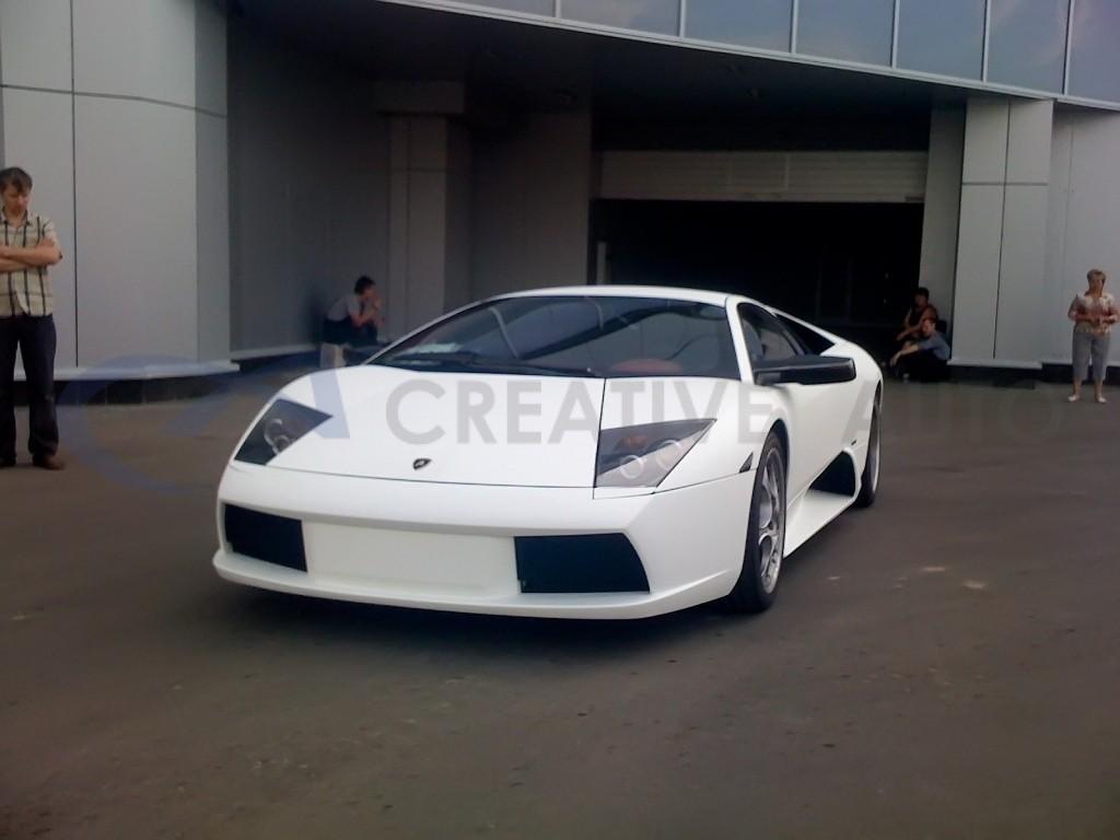 Белый мат Lamborghini Gollardo