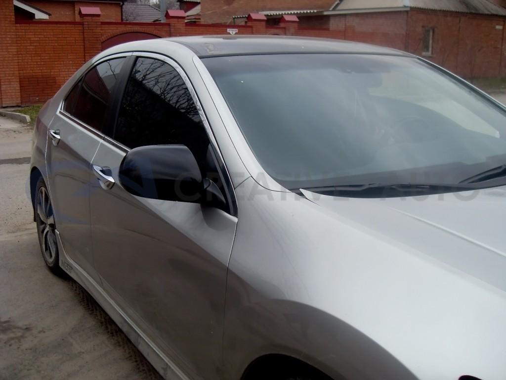 Черный глянец зеркала Honda Accord