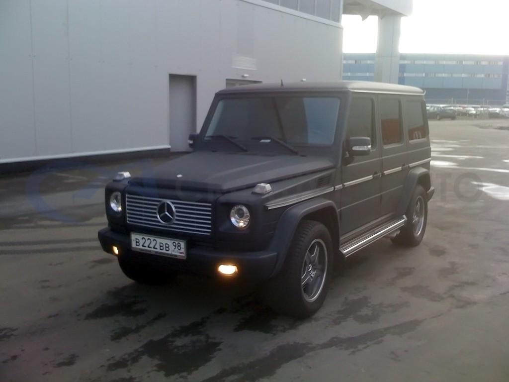 Черный мат Mercedes G