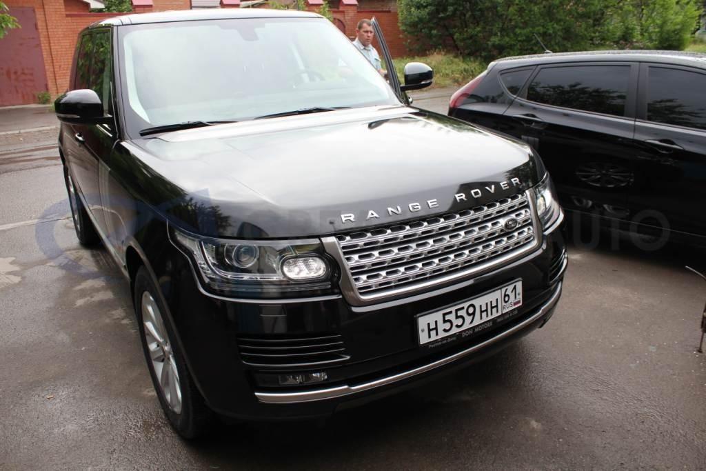 Ламинирование передней части Land Rover Range Rover. Изображение 4
