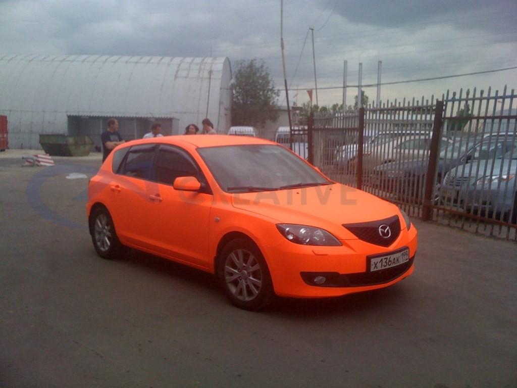 Оранжевый мат Mazda 3