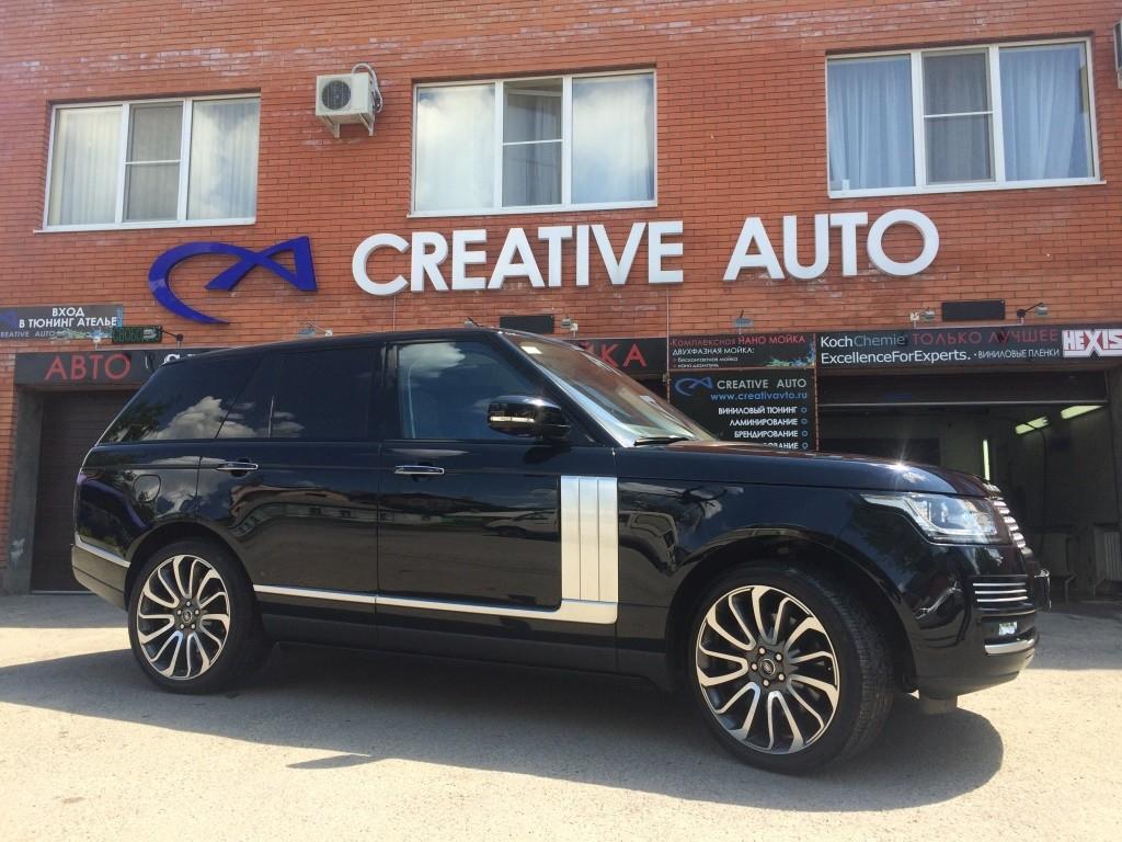 Полировка и нанокерамика, ламинирование передней части Land Rover Range Rover. Изображение 5