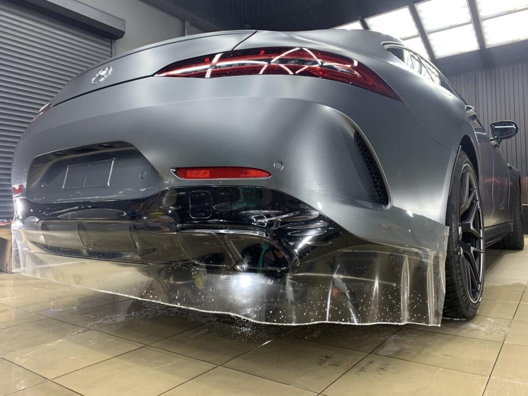 Полная антигравийная защита кузова, салона, глянцевых элементов Мерседес GT 63 S AMG