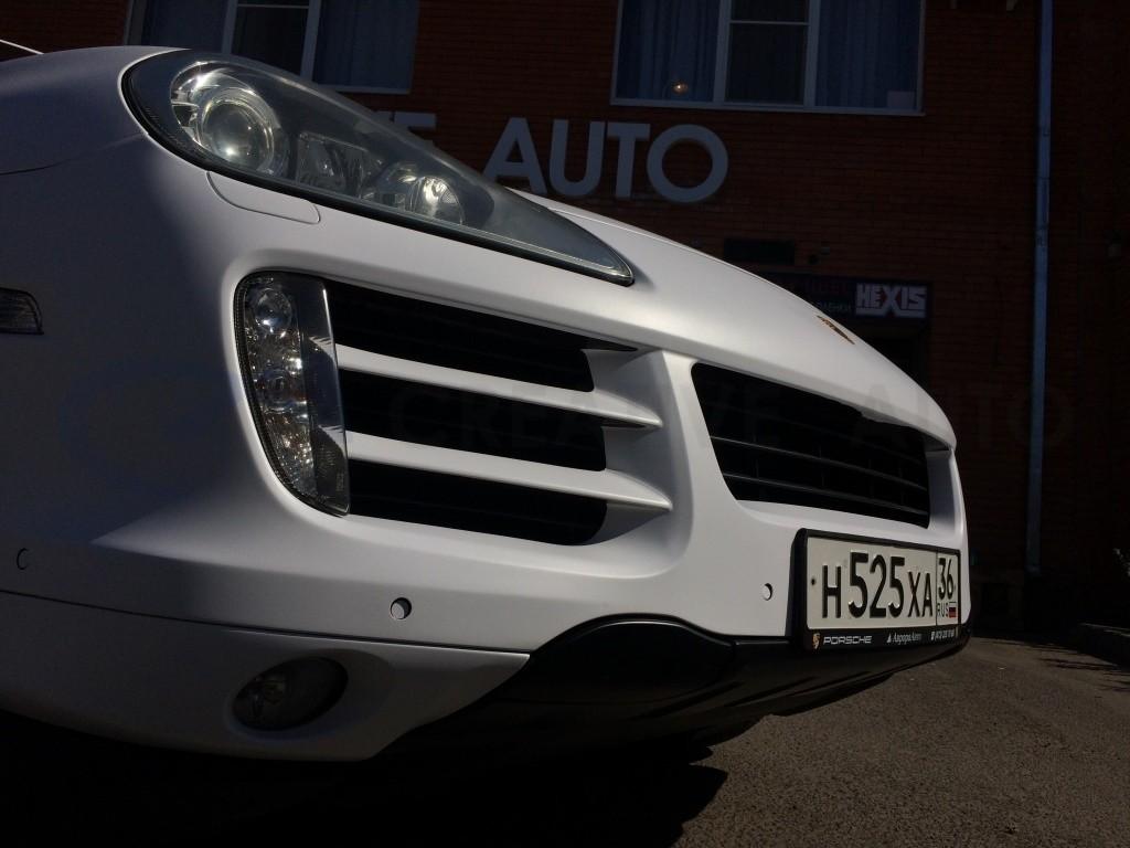 Porsche Cayenne белый мат. Изображение 9