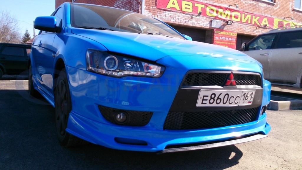 Голубой глянец Mitsubishi Lancer