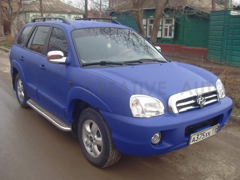 Синий Карбон Hyundai Santa Fe