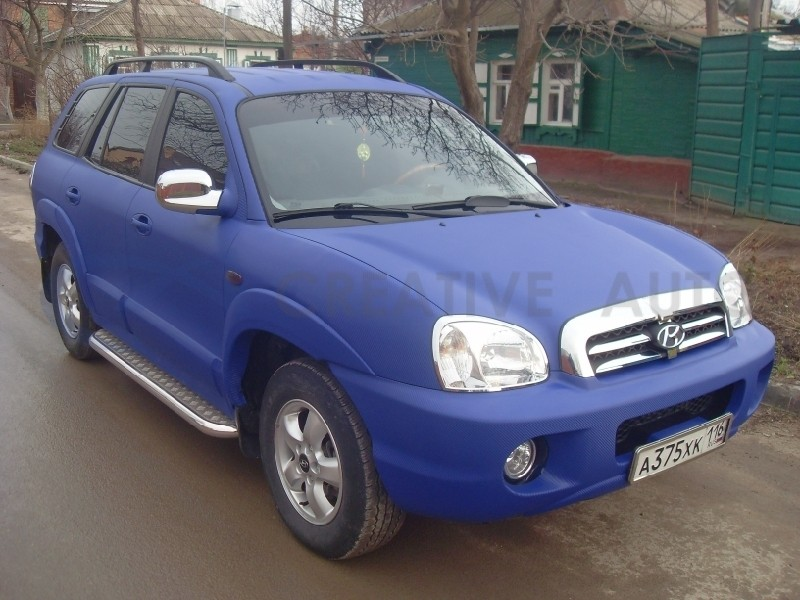 Синий Карбон Hyundai Santa Fe. Изображение 5
