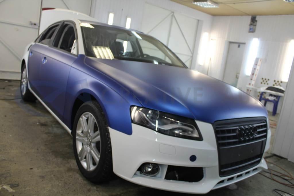 Синий мат Audi A4. Изображение 1
