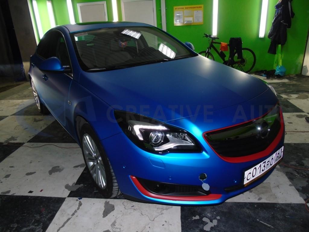 Синий мат Opel Insignia. Изображение 9