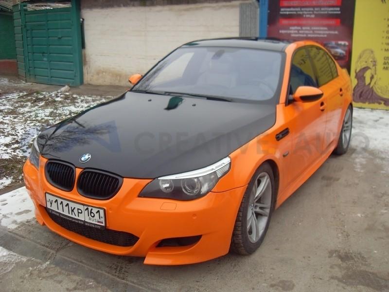 Стайлинг, оранжевый и черный глянец BMW M5. Изображение 7