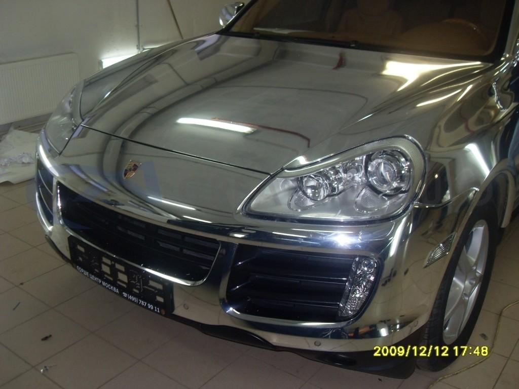 Зеркальный хром Porsche Cayenne