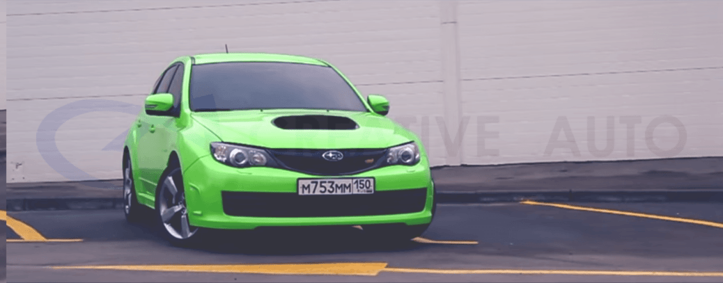 Видео SUBARU IMPREZA VRX STI в зеленом глянце