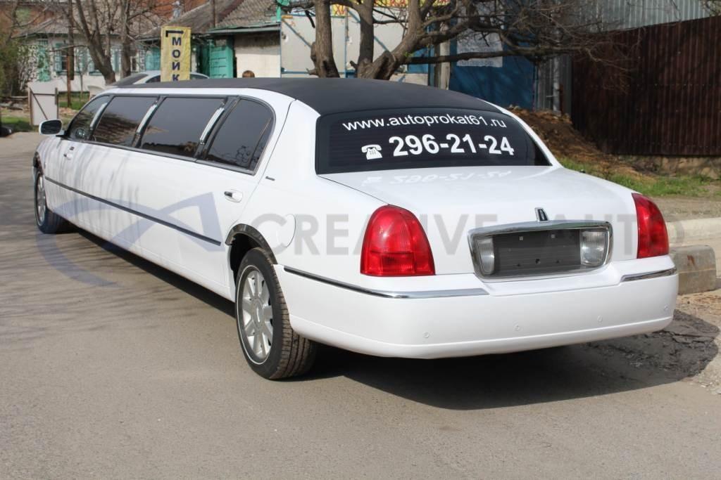 Белый глянец Lincoln Town Car. Изображение 9