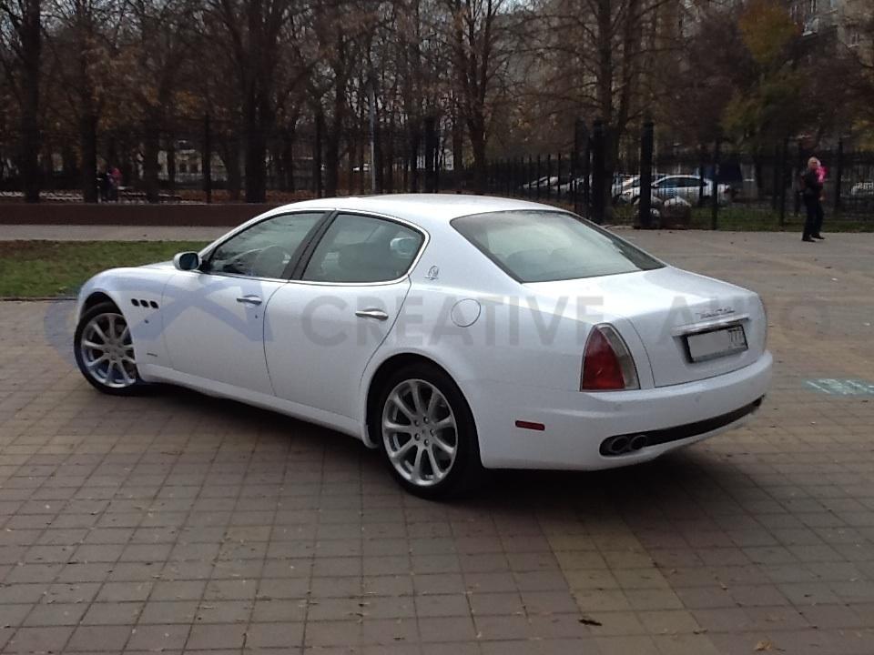 Белый глянец Maserati Quattroporte. Изображение 3