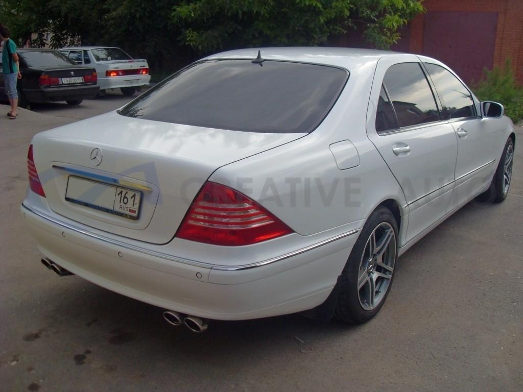 Белый глянец, перламутр HEXIS Mercedes S220 Long. Изображение 9