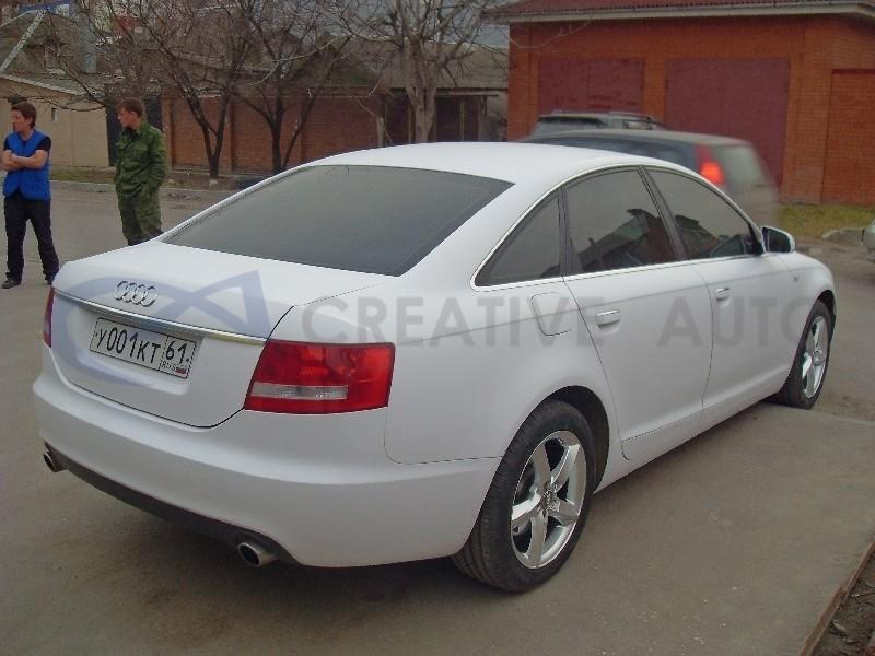 Белый мат Audi A6. Изображение 10
