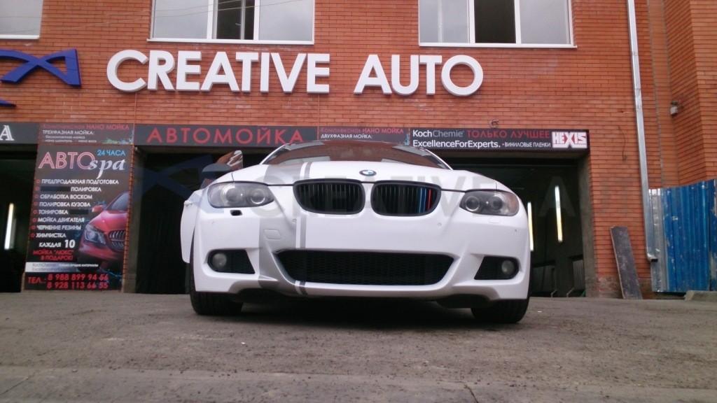Белый мат, черный глянец, неполированный алюминий BMW 325i. Изображение 17