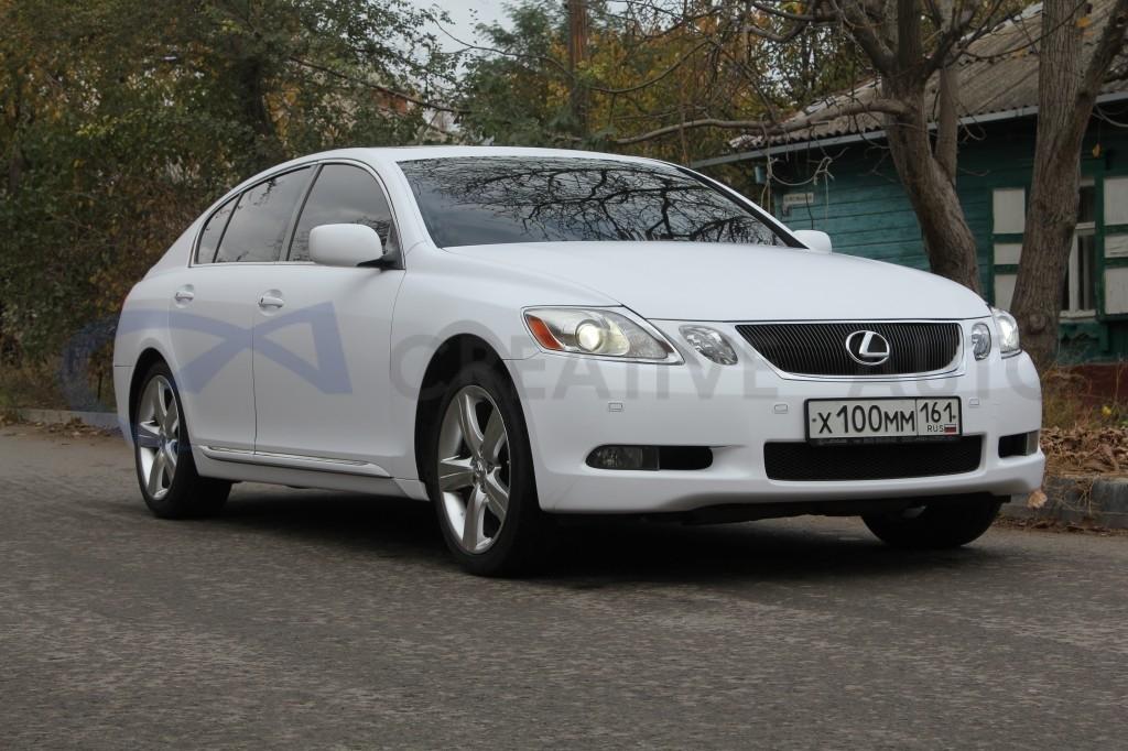 Белый мат Lexus GS300. Изображение 11