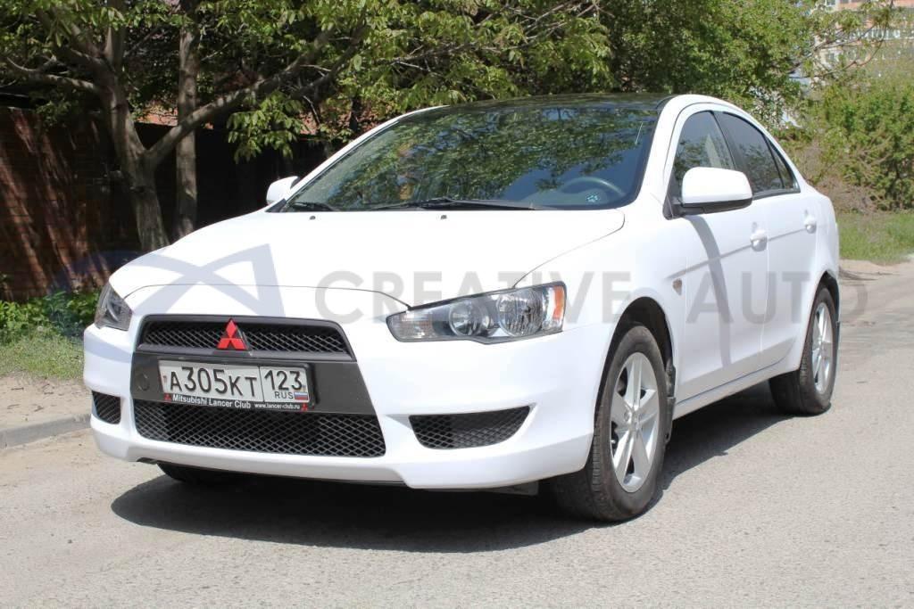 Белый мат Mitsubishi Lancer. Изображение 2