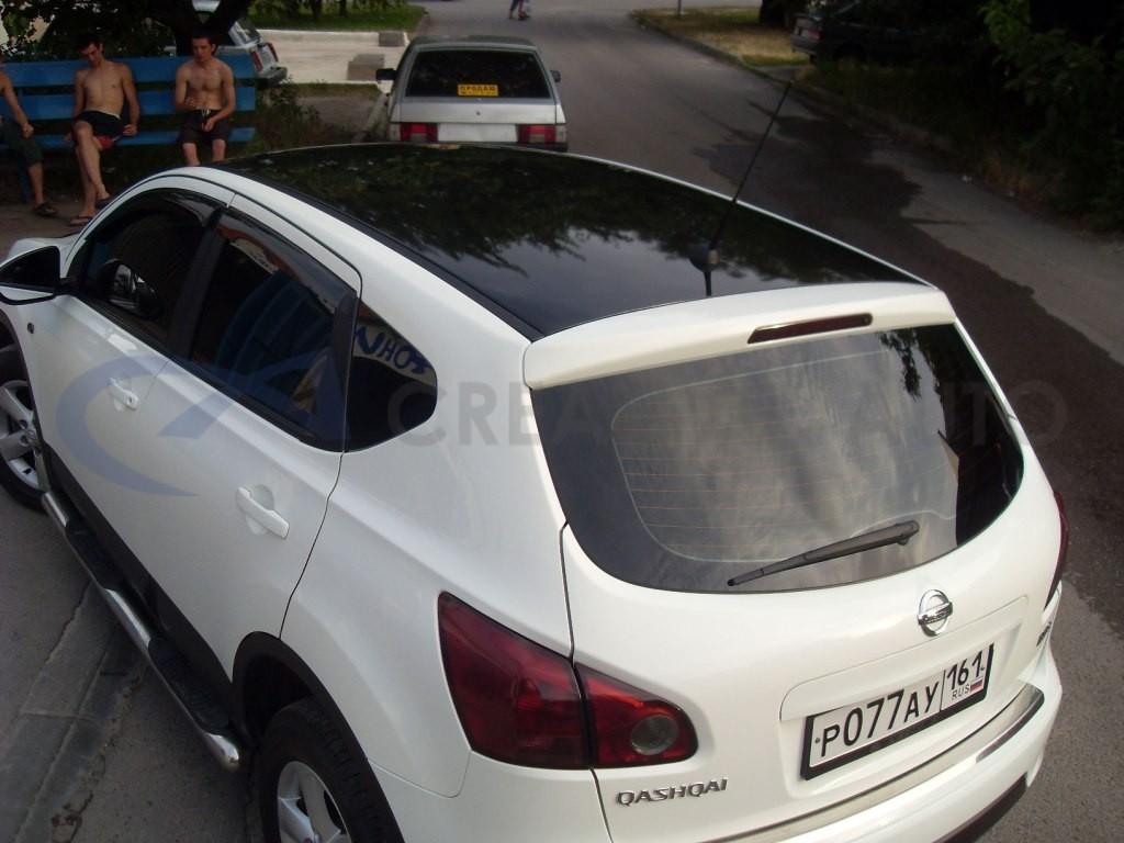 Черный глянец крыша и тонировка оптики Nissan Qashqai. Изображение 6