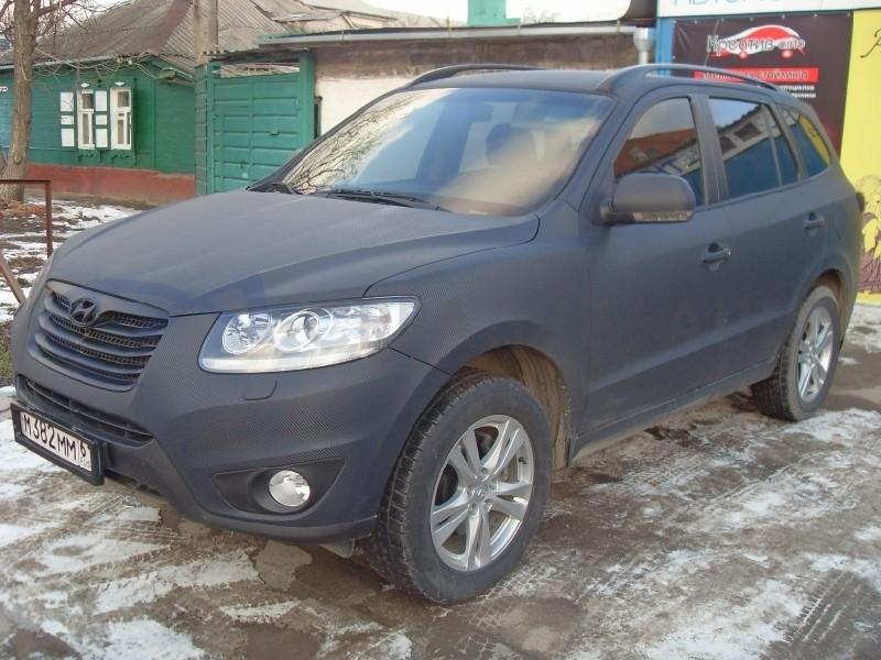 Черный Карбон Hyundai Santa Fe. Изображение 5