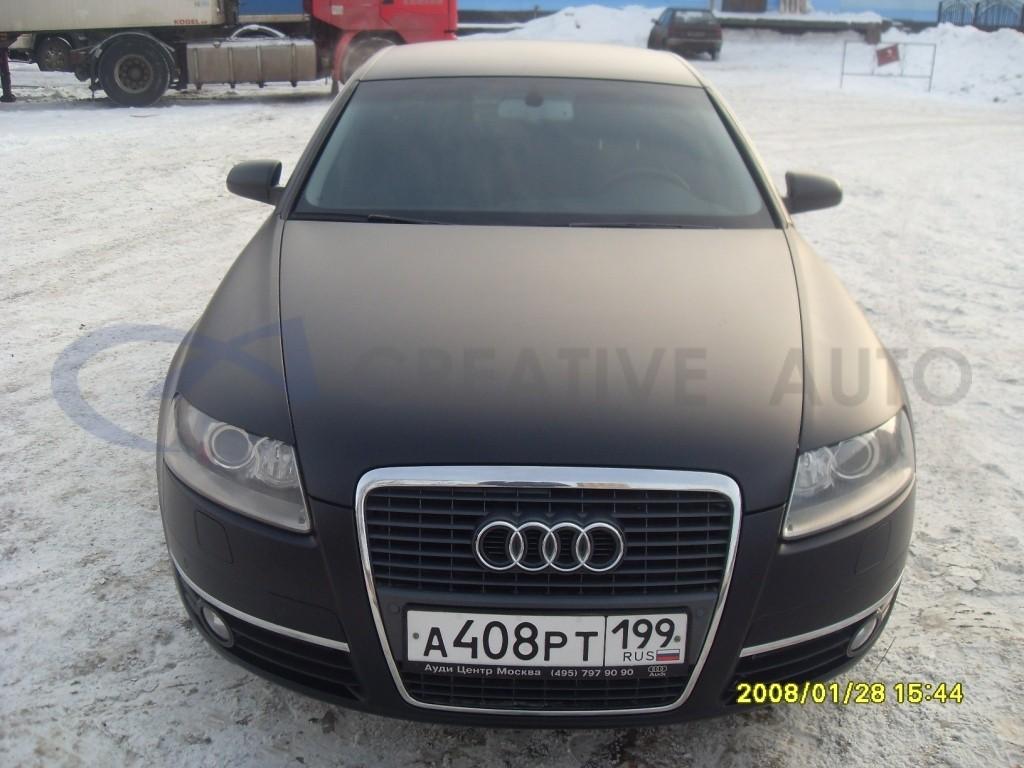 Черный мат Audi A6. Изображение 20