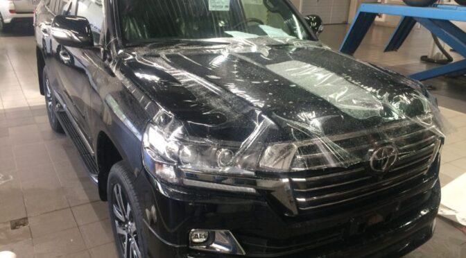 Бронирование, ламинирование, защита передних частей кузова Тойота Ленд Крузер 200