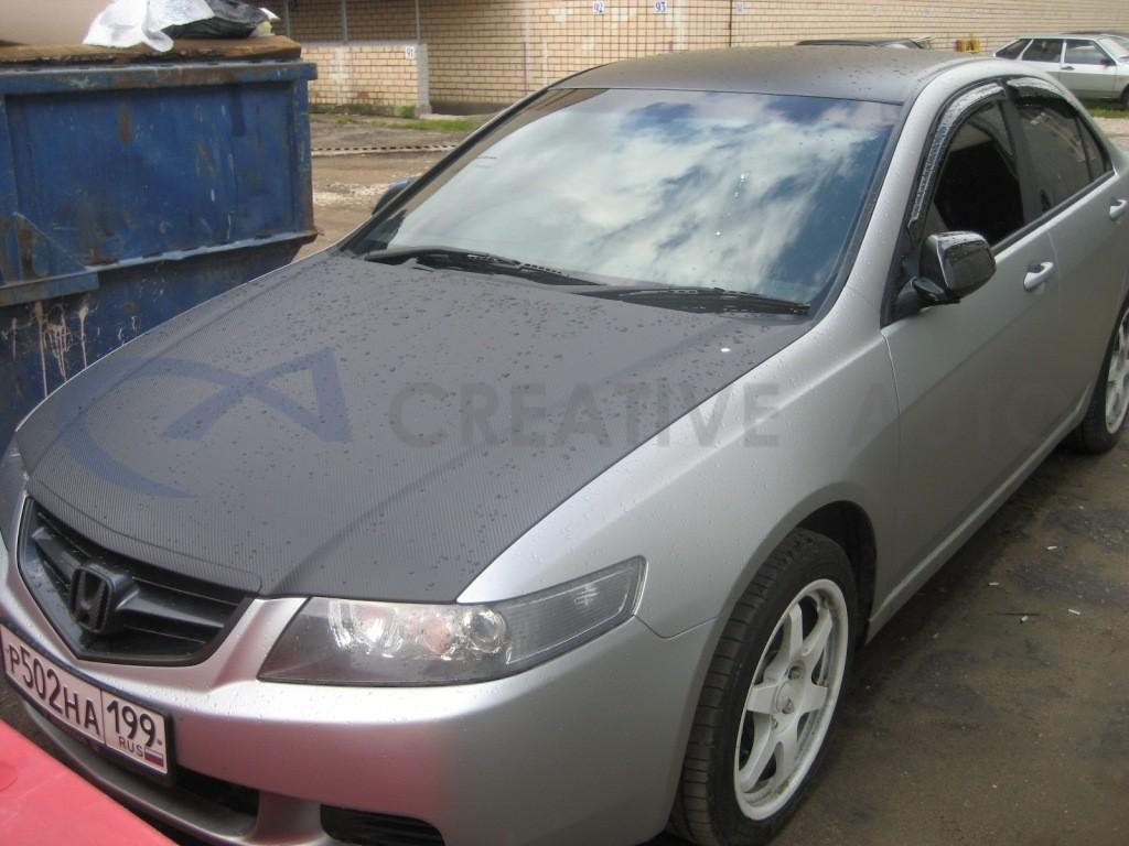 Прозрачный мат и карбон Honda Acсord. Изображение 4