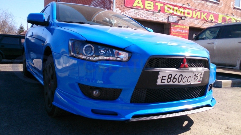Голубой глянец Mitsubishi Lancer. Изображение 11