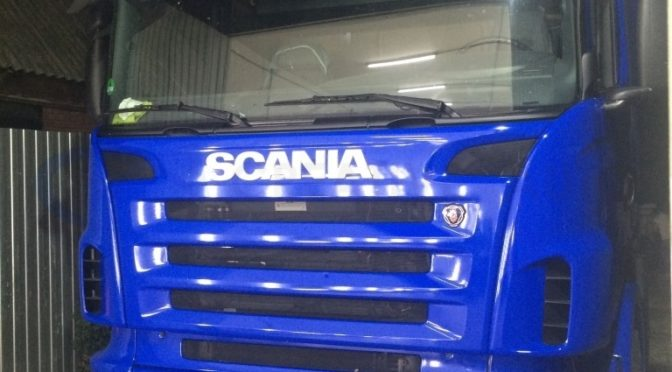 Синий глянец Scania R480