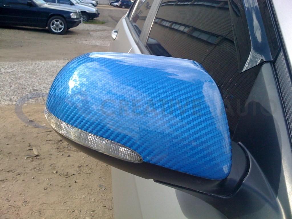 Синий карбон зеркала Honda Accord