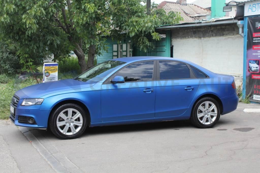 Синий мат Audi A4. Изображение 3