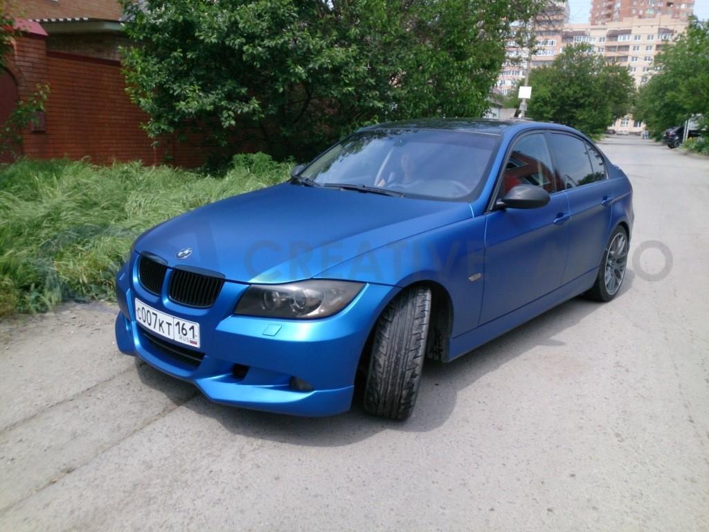 Синий матовый металлик BMW M3. Изображение 5