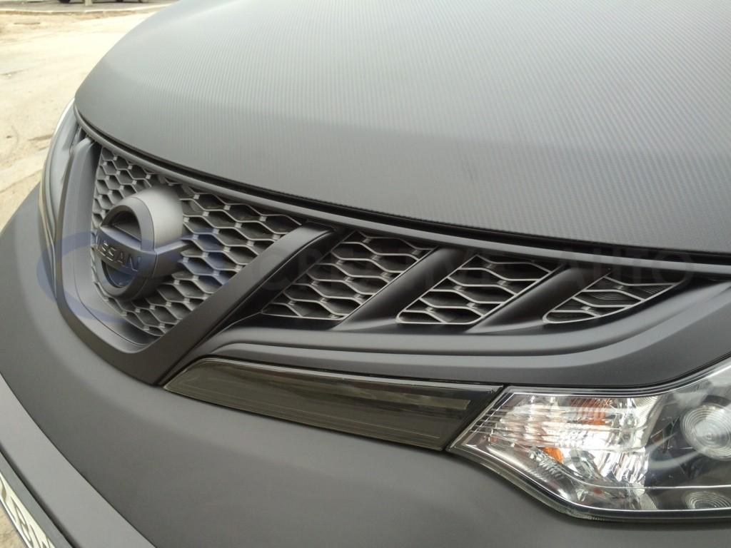 Супер черный мат и карбон Nissan Murano. Изображение 14
