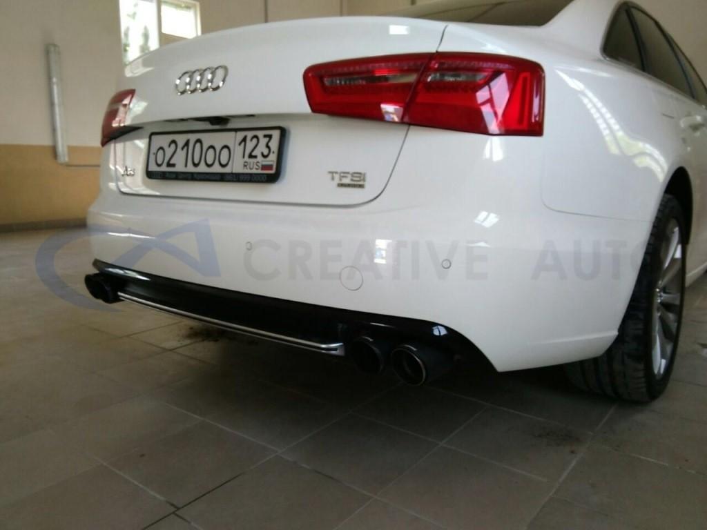 Тюнинг задней юбки Audi A6