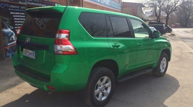 Зеленый перламутр Toyota Prado