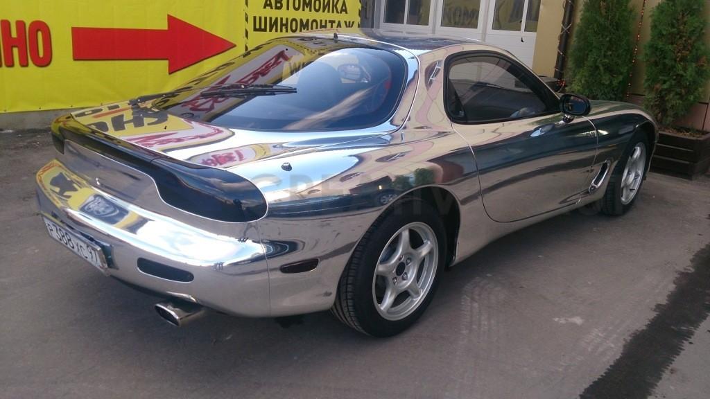 Зеркальный хром Mazda RX-7. Изображение 4