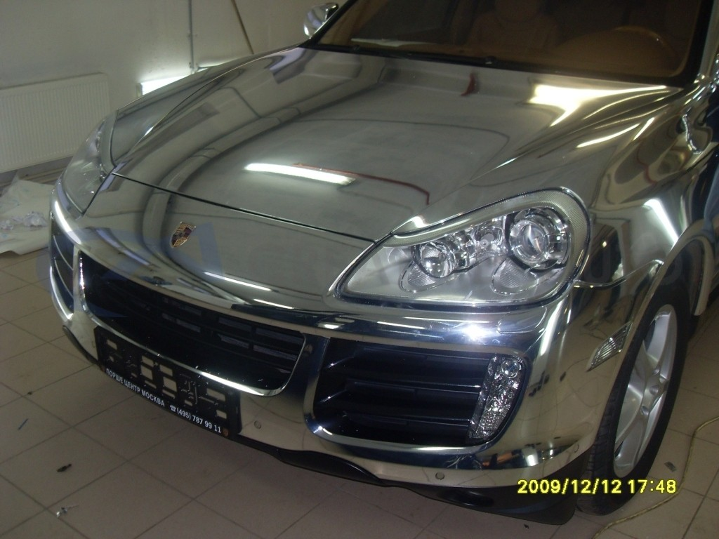 Зеркальный хром Porsche Cayenne. Изображение 7