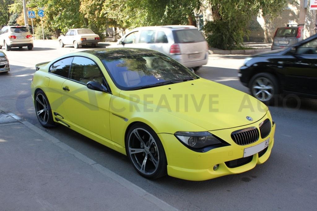 Желтый мат BMW 645. Изображение 1